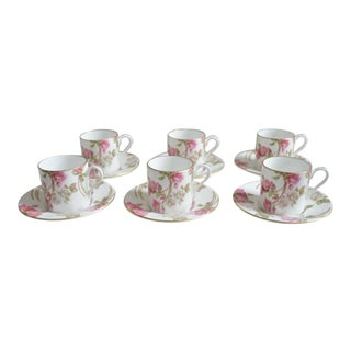 Aysnley Demitasse Espresso Cups & Saucers - Set of 6 For Sale