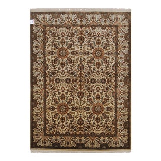"""Traditional Persian Farahan Design Area Rug With Floral Patterns and Border - 5'1"""" X 6'11"""" For Sale"""
