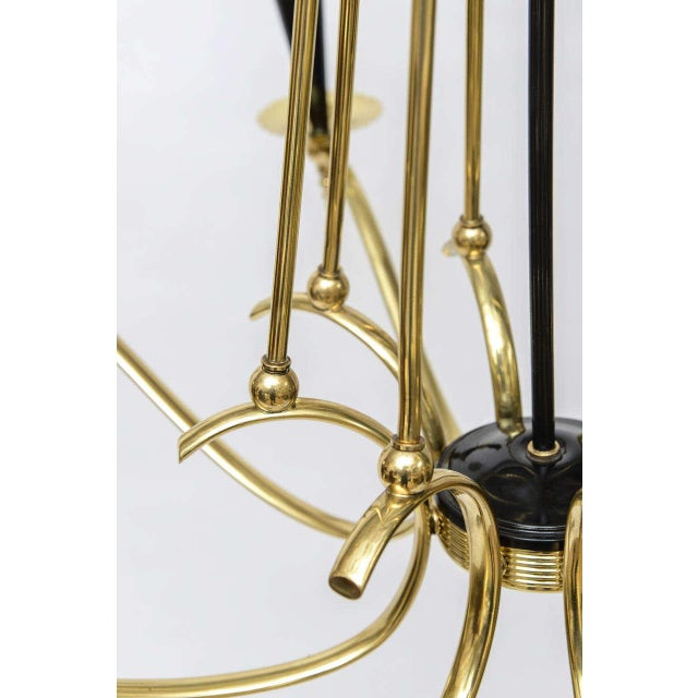 Brass Italian Brass 8 Arm Chandelier For Sale - Image 7 of 9