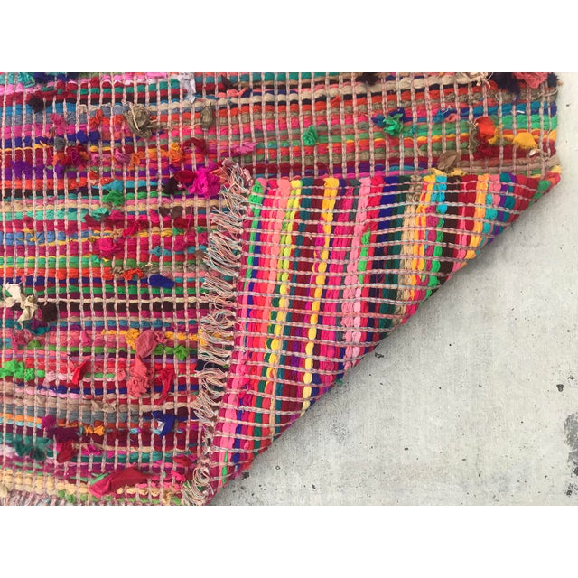 Nylon Indian Multicolor Rug - 4′ × 6′ For Sale - Image 7 of 11