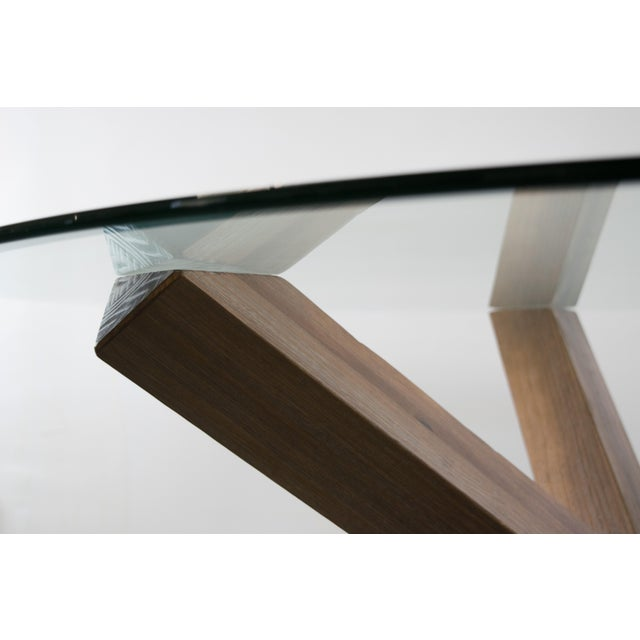 Sculptural Cerused White Oak Dining Table Attributed to Ralph Lauren - Image 4 of 11