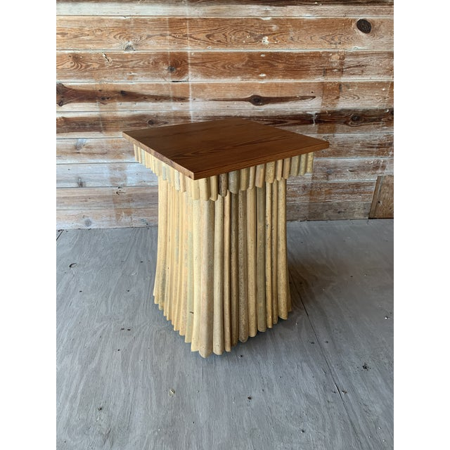Wood Florida Studio-Craft Pedestal Table For Sale - Image 7 of 7