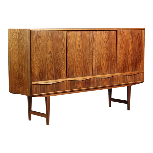 1950s Danish Modern Ew Bach for Sejling Skabe Rosewood Sideboard For Sale