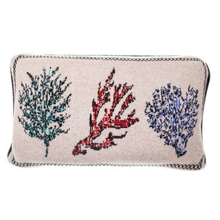 Fee Greening - Corals Lumbar Cashmere Pillow For Sale