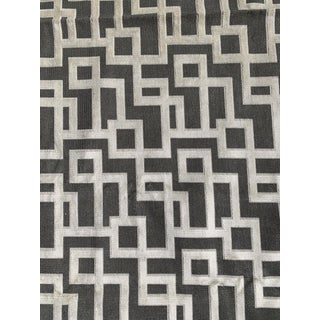 Kravet Couture Greek Key Diva Gray Epingle 3+y Fabric For Sale