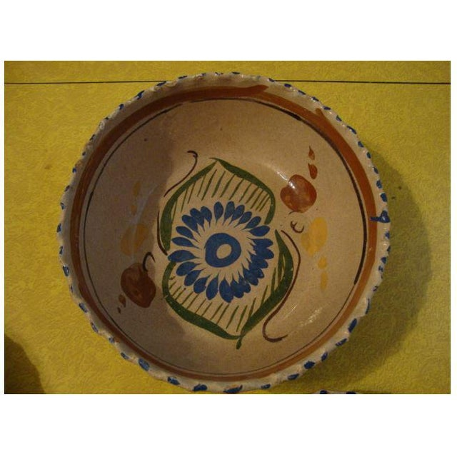 Rustic Tlaquepaque Mexican Nesting Bowls - Set of 4 For Sale - Image 3 of 10