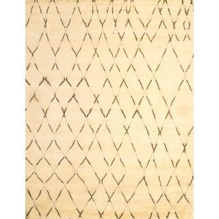 Modern Moroccan Wool Rug - 9' X 12' For Sale