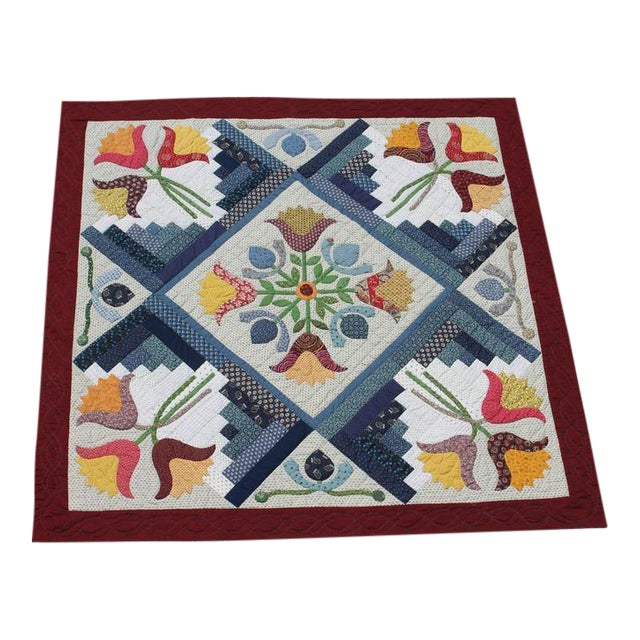 20th Century Amazing Center Star Medallion Quilt - Image 1 of 7