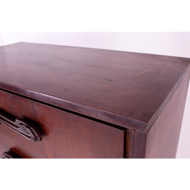 Wood Mid Century Witco Style Oceanic Brutalist 6 Drawer Gentlemans Chest For Sale - Image 7 of 11
