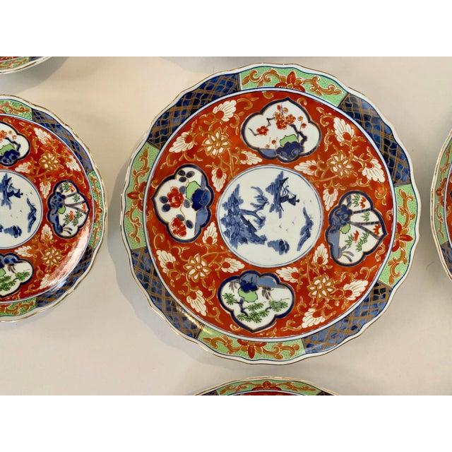 Imari Porcelain Vintage Imari Takahashi Dishes - Set of 10 For Sale - Image 4 of 10