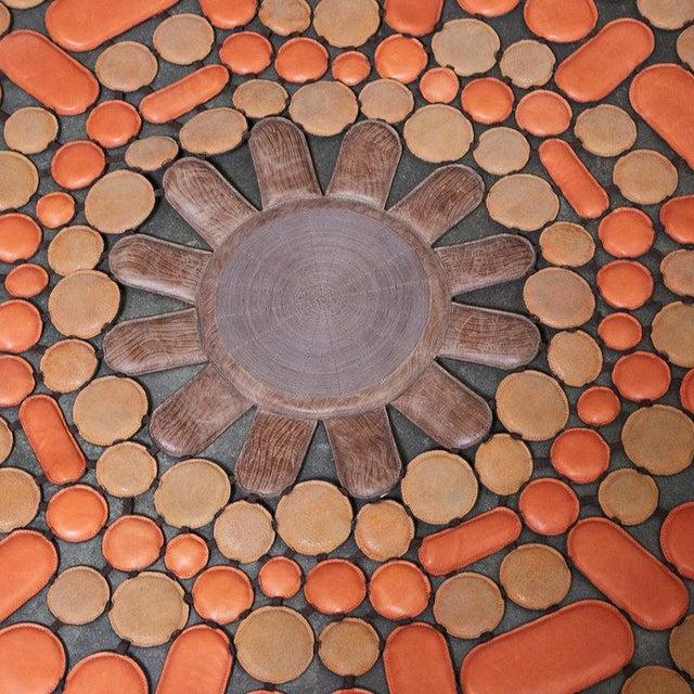 2000 - 2009 Italian Leather 'Sunshine Orange' Rug For Sale - Image 5 of 5
