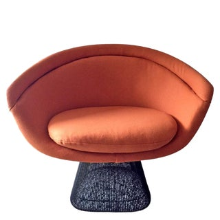 1960s Vintage Warren Platner Bronze Lounge Chair For Sale
