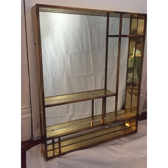 Signed Curtis Jere Brass Mirrored Shelf - Image 3 of 5
