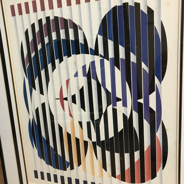 """Agam Yaacov Yaacov Agam """"Birth of a Flag"""" Lithograph Signed For Sale - Image 4 of 8"""
