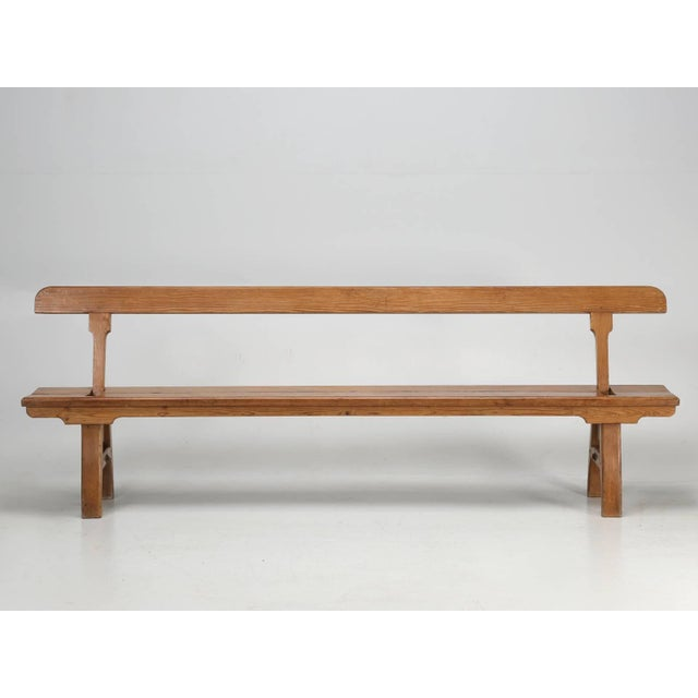 Antique Country Pine Bench With Adjustable Back For Sale - Image 13 of 13