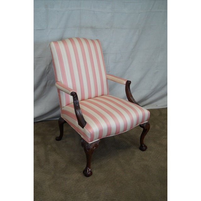 Chippendale Ball & Claw Foot Arm Chair For Sale - Image 10 of 10
