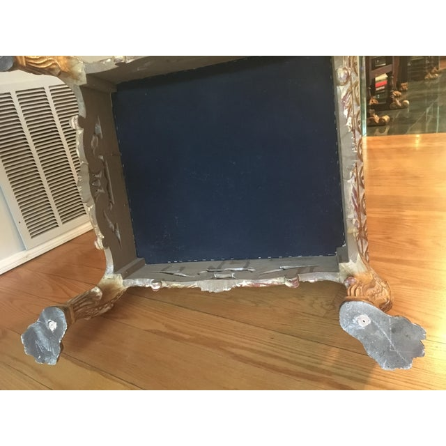 Giltwood Empire Lion Paw Giltwood Tufted Ottoman For Sale - Image 7 of 10