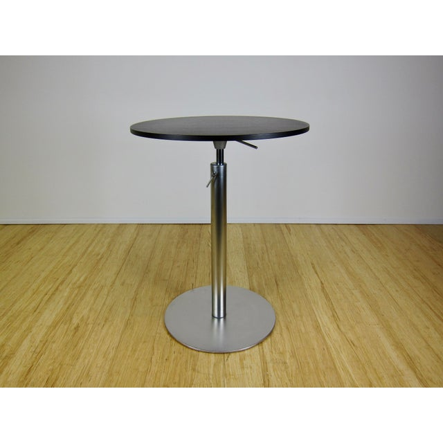 """Lapalma """"Brio"""" Table by Romano Marcato. Made in Italy circa the late 90's early 2000's. A versatile modern bistro or bar..."""