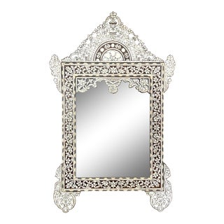 Mother of Pearl Inlaid Mirror For Sale