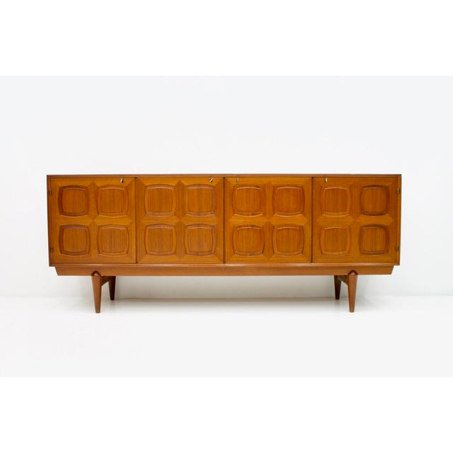Graphic Teak Sideboard by Rastad & Relling for Bahus Norway 1960s For Sale - Image 9 of 9