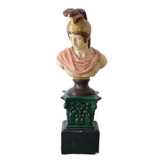 Neoclassical Revival Vintage Plaster Roman Bust Sculpture For Sale