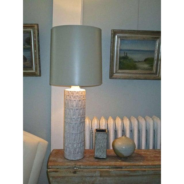 Mid Century Ceramic Textured Lamp - Image 2 of 3