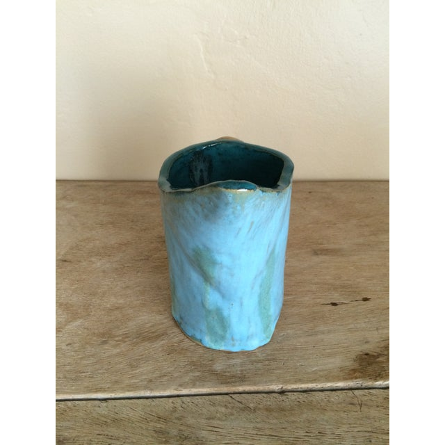 Hand-Painted Pottery Pitcher - Image 4 of 5