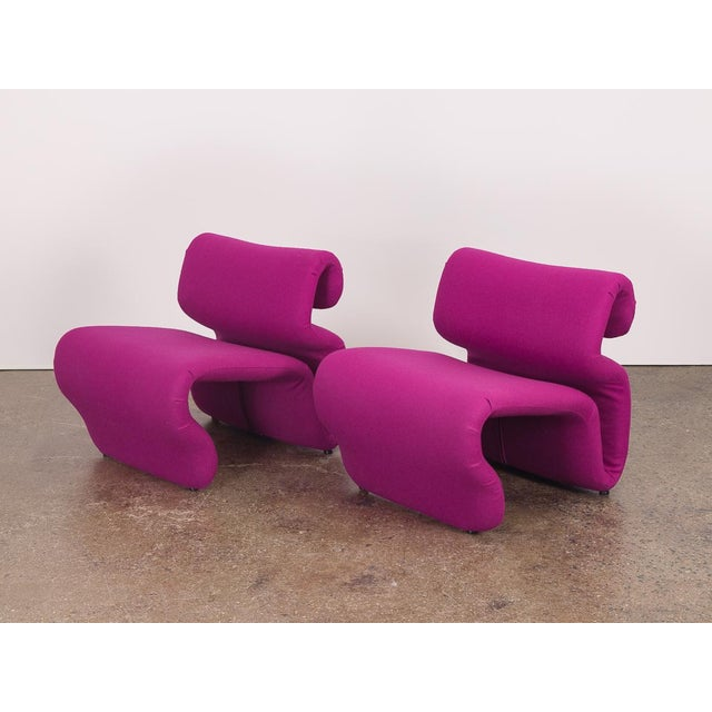 Pair of Space Age Etcetera Chairs by Swedish designer Jan Ekselius. Truly amazing, dynamic sculpted form. Newly...