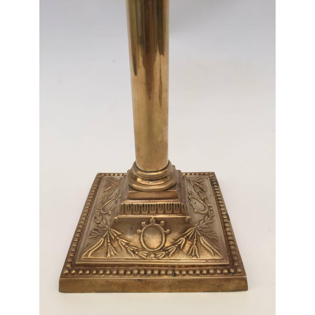 Pair of Brass Candlesticks For Sale - Image 4 of 10