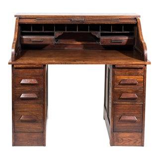 Vintage Oak Rolltop Desk