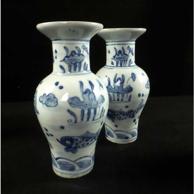 Early 20th Century Antique Blue And White Chinese Vases Jars Set