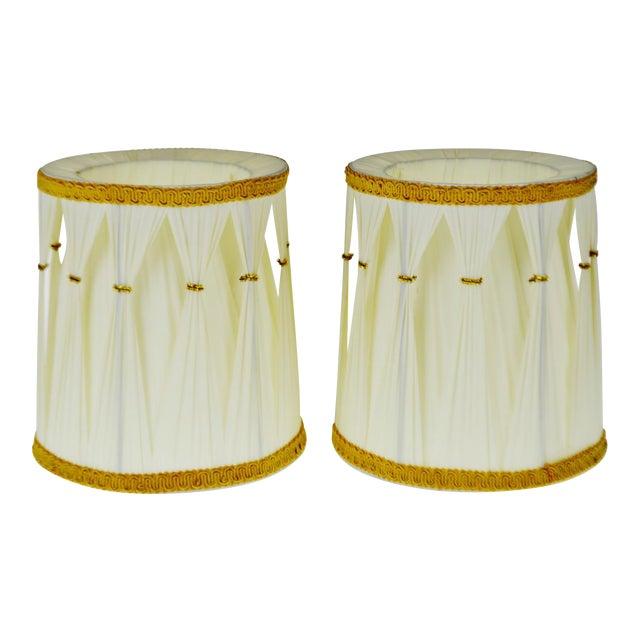 Vintage Hollywood Regency Drum Lamp Shades - A Pair - Image 1 of 6