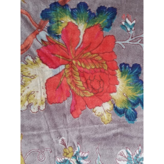 Boho Chic 3 Yards Cotton Velvet for Pillows Drapes Uphostery For Sale - Image 3 of 5