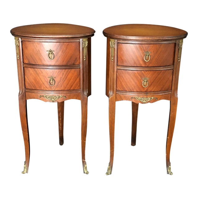French Louis XV Style Nightstands -A Pair For Sale