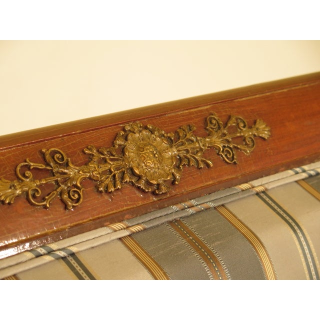 Traditional French Empire Bronze Winged Phoenix Sofa For Sale - Image 9 of 13