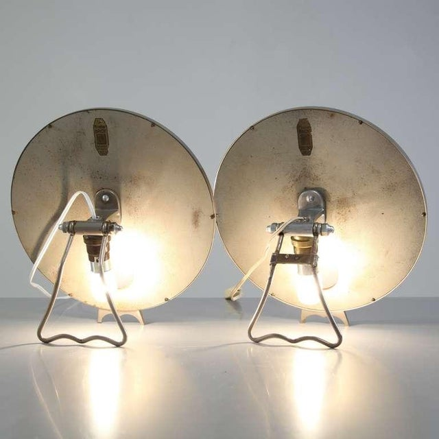 1930s Pair Illuminating nickel 'Brot' vanity mirrors, France, 1930s For Sale - Image 5 of 7