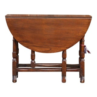 19th C. English Gateleg Console For Sale