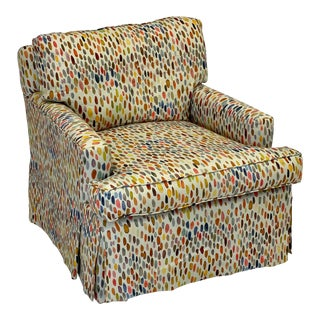 Multi-Color Upholstered Club Chair For Sale