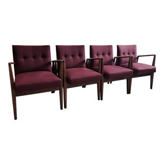 Mid Century Modern Jens Risom Chairs - Set of 4 For Sale