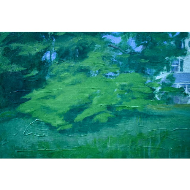 """Stephen Remick """"House Behind the Tree by the Road"""" Contemporary Painting For Sale In Providence - Image 6 of 10"""
