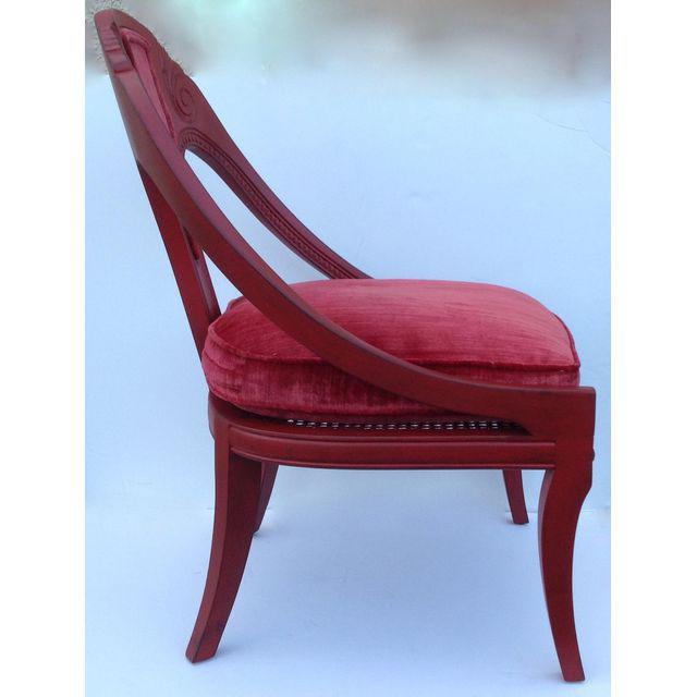 1950s Hollywood Regency Spoon Back Chairs - a Pair For Sale - Image 5 of 10