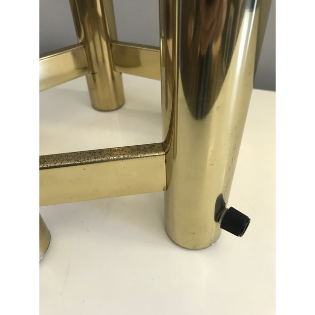 Mid-Century Modern Mid-Century Brass Globe Table Lamp For Sale - Image 3 of 6
