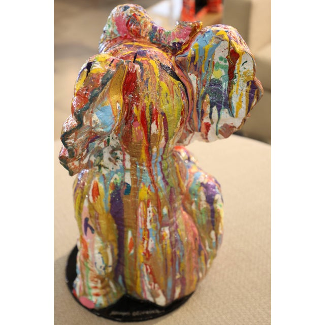 """Mauro Oliveira """"Playful Baby Elephant"""" Sculpture For Sale - Image 4 of 6"""
