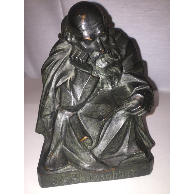 1915 S. Morani Armor Bronze Bookends - a Pair - Image 9 of 10