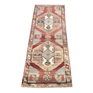 "Vintage Turkish Oushak Runner - 4'2"" x 11'2"""