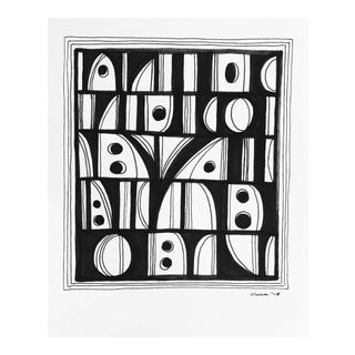 """Christy Almond """"Shapes and Lines I I"""" Original Drawing For Sale"""