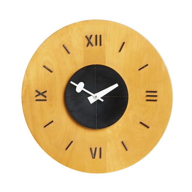 George Nelson Howard Miller Birchwood Wall Clock - Image 1 of 5