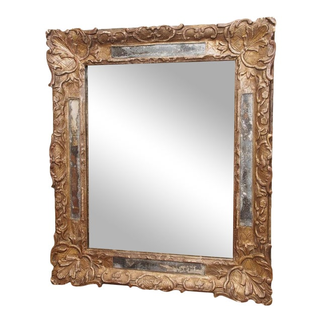 18th Century French Gilded Parclose Mirror For Sale