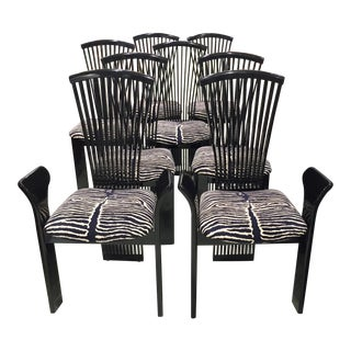 High Back Chairs by Pietro Costantini- - Set of 8 For Sale