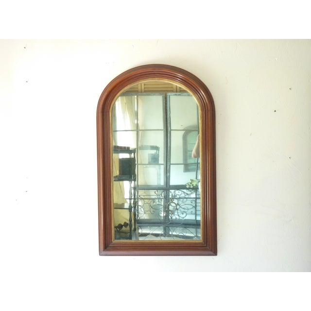 Curve Top Walnut Mirror For Sale In Boston - Image 6 of 6